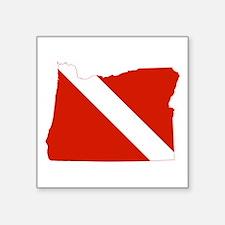 """Oregon Diver Square Sticker 3"""" x 3"""""""