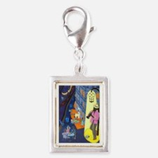 New Orleans, here music is b Silver Portrait Charm