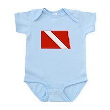 North Dakota Diver Infant Bodysuit