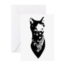 Cat Bandana Greeting Card