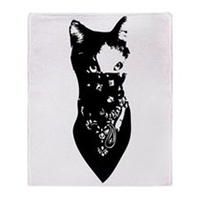 Cat Bandana Throw Blanket