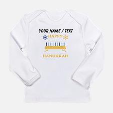 Custom Happy Hanukkah Long Sleeve T-Shirt