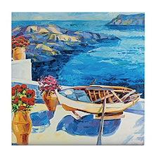 Greek Painting Tile Coaster