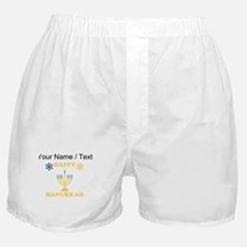Custom Happy Hanukkah Boxer Shorts