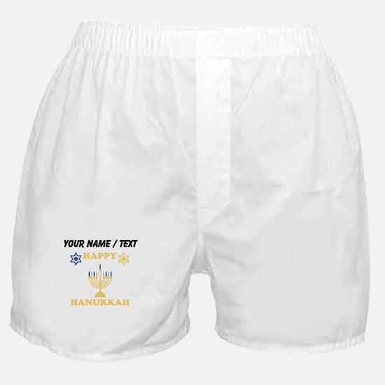 Custom Happy Hanukkah Boxer Shorts