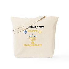 Custom Happy Hanukkah Tote Bag