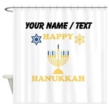 Custom Happy Hanukkah Shower Curtain