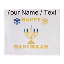 Custom Happy Hanukkah Throw Blanket