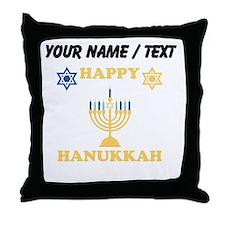 Custom Happy Hanukkah Throw Pillow