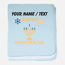 Custom Happy Hanukkah baby blanket