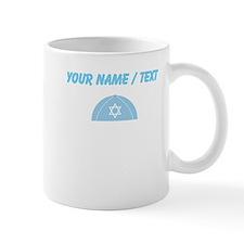 Custom Blue Yarmulke Mugs