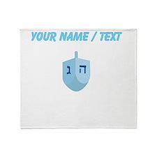 Custom Blue Dradle Throw Blanket