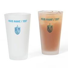 Custom Blue Dradle Drinking Glass
