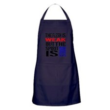 Never Quit Getting Fit Apron (dark)