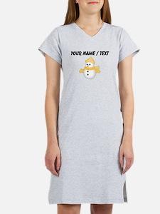 Custom Christmas Snowman Women's Nightshirt