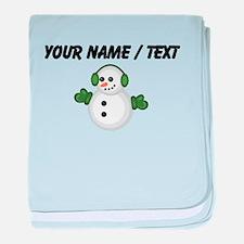 Custom Christmas Snowman baby blanket