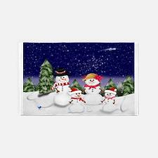 Snowman Family Scene (exlg) 3'x5' Area Rug