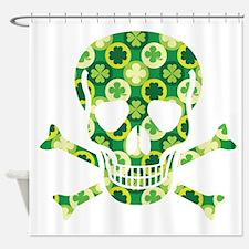 Irish Pirate Skull And Crossbones Shower Curtain