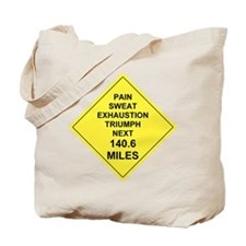 WARNING Tote Bag (140.6 miles)
