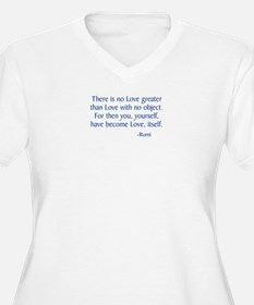 There Is No Love Greater Plus Size T-Shirt