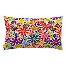 Hippie Flowers Pillow Case