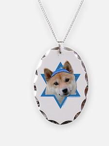 Hanukkah Star of David - Shiba Inu Necklace