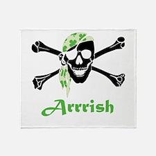 Arrish Irish Pirate Skull And Crossbones Throw Bla