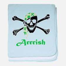 Arrish Irish Pirate Skull And Crossbones baby blan