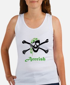 Arrish Irish Pirate Skull And Crossbones Tank Top