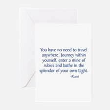 Journey Within Yourself Greeting Cards