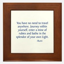 Journey Within Yourself Framed Tile