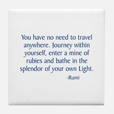 Journey Within Yourself Tile Coaster