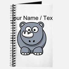 Custom Cartoon Baby Rhino Journal