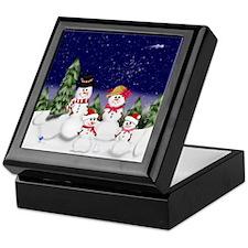 snowman-family-(scv2) Keepsake Box