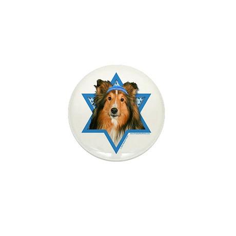 Hanukkah Star of David - Sheltie Mini Button (100