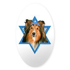 Hanukkah Star of David - Sheltie Decal