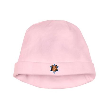 Hanukkah Star of David - Sheltie baby hat