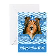 Hanukkah Star of David - Sheltie Greeting Card