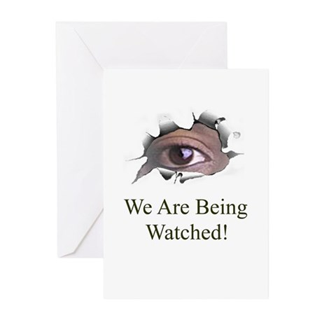 We Are Being Watched Greeting Cards (Pk of 10)