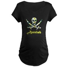 Arrish Irish Pirate Calico Jack Skull Maternity T-