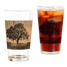 vintage oak tree modern decor Drinking Glass