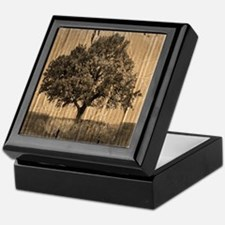 vintage oak tree modern decor Keepsake Box