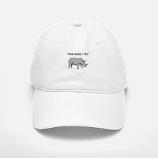 Custom Grey Rhino Baseball Baseball Baseball Cap