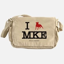 "I ""pit bull"" Milwaukee Messenger Bag"