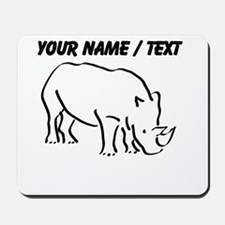 Custom Rhinoceros Drawing Mousepad