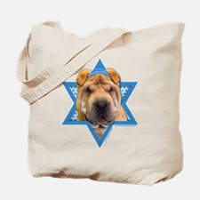 Hanukkah Star of David - Shar Pei Tote Bag