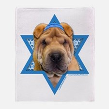 Hanukkah Star of David - Shar Pei Throw Blanket