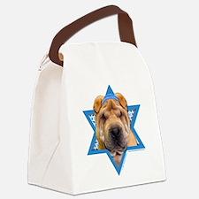 Hanukkah Star of David - Shar Pei Canvas Lunch Bag