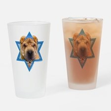 Hanukkah Star of David - Shar Pei Drinking Glass