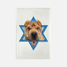 Hanukkah Star of David - Shar Pei Rectangle Magnet